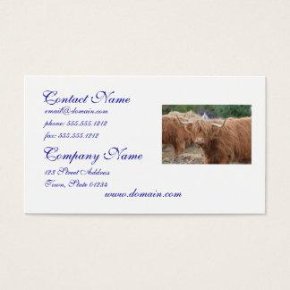 Highland Cow Business Card