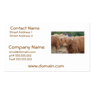Highland Cow Business Card Templates