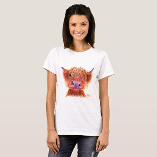 Highland Cow ' CHILLI CHOPS ' Womens T-Shirt Top