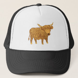 highland cow (coo) trucker hat