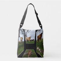 Highland Cow Dimensional Art, Crossbody Bag
