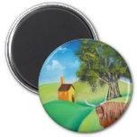 HIGHLAND COW FOLK ART FRIDGE MAGNET