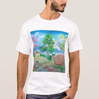 HIGHLAND COW FOLK PAINTING T-Shirt