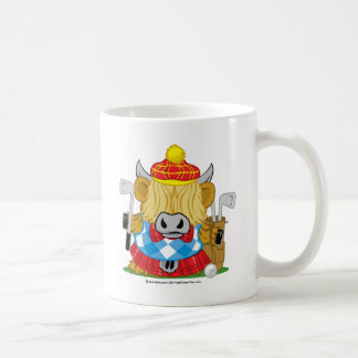 Highland Cow Golf Coffee Mug