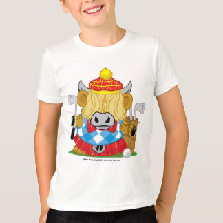 Highland Cow Golf T-Shirt