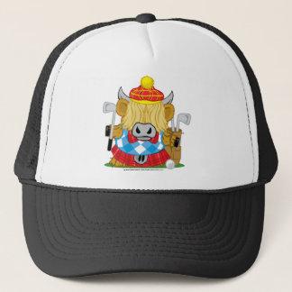 Highland Cow Golf Trucker Hat