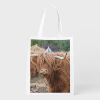 Highland Cow Grocery Bag
