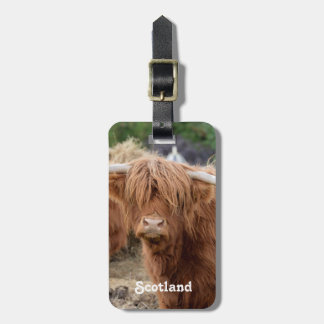 Highland Cow Tag For Bags