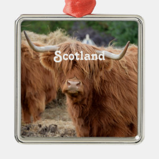 Highland Cow Metal Ornament