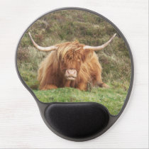 Highland Cow on Dartmoor Gel Mouse Pad