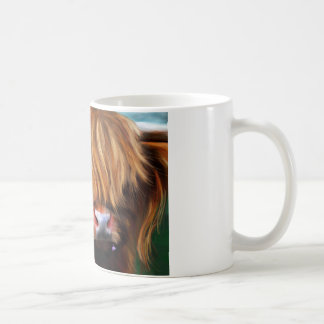 Highland Cow Painting Coffee Mugs