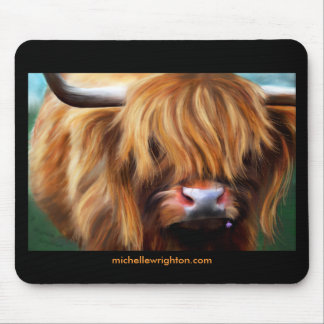 Highland Cow Painting Mouse Pad