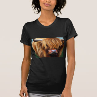 Highland Cow Painting T-Shirt