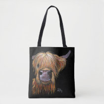 "HiGHLaND CoW PRiNT ""HeNRY' BY SHiRLeY MacARTHuR Tote Bag"