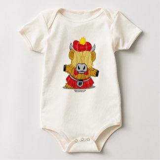 Highland Cow Red Kilt Baby Bodysuit