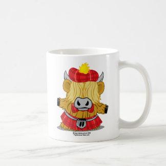Highland Cow Red Kilt Coffee Mug