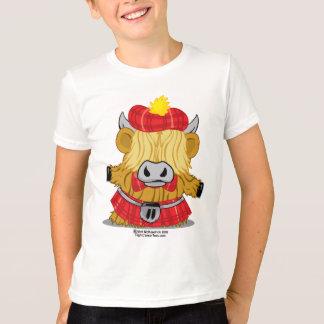 Highland Cow Red Kilt T-Shirt