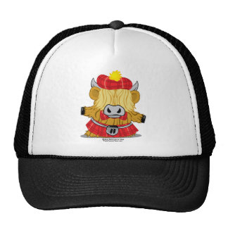 Highland Cow Red Kilt Trucker Hat