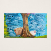 HIGHLAND COW SHEEP FOLK PAINTING BUSINESS CARD