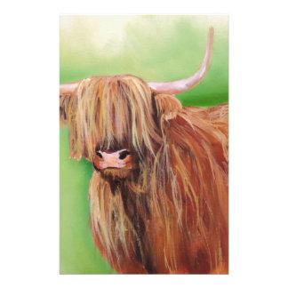 Highland cow stationery