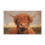 Highland Cow Stretched Canvas Prints