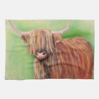 Highland cow towel