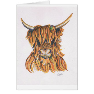 Highland Cow with Thistle Gift Card