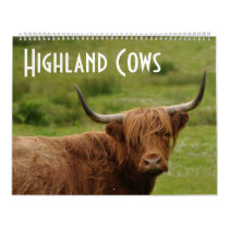 Highland Cows - 12 Months of Highland Cattle - Calendar