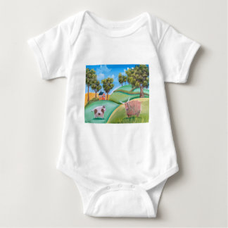 Highland Cows Baby Bodysuit