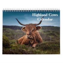 Highland Cows Calendar