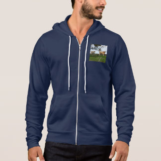 Highland_Cows_Country_Mens_Navy_Fleece_Hoodie. Hoodie