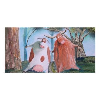 HIGHLAND COWS IN LOVE Gordon Bruce Photo Card Template