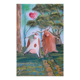 HIGHLAND COWS IN LOVE Gordon Bruce Stationery