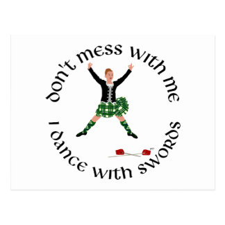 Highland Dance - Don't Mess with Me Postcard