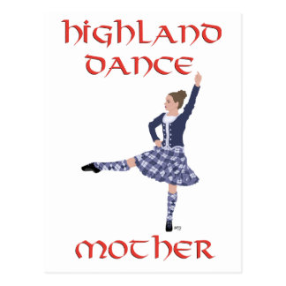 Highland Dance MOTHER Postcard