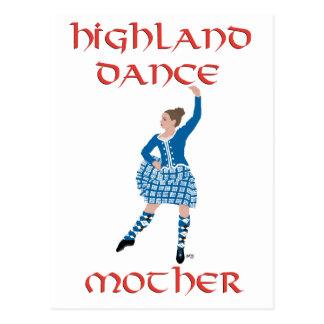 Highland Dance Mother - Teal Postcard