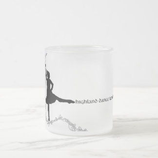Highland Dance Teacher - Black Silhouette Frosted Glass Coffee Mug
