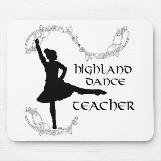 Highland Dance Teacher - Black Silhouette Mouse Pad