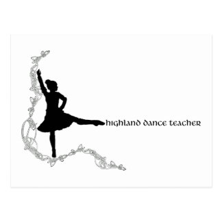 Highland Dance Teacher - Black Silhouette Postcard