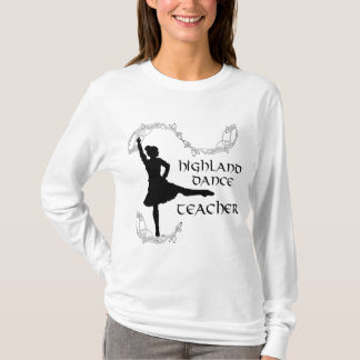 Highland Dance Teacher - Black Silhouette T-Shirt