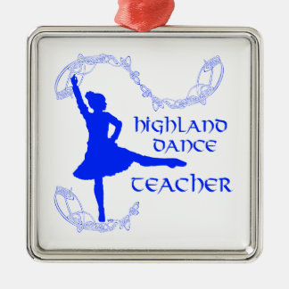Highland Dance Teacher - Blue Metal Ornament