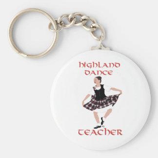 Highland Dance Teacher - Country Dances Basic Round Button Keychain
