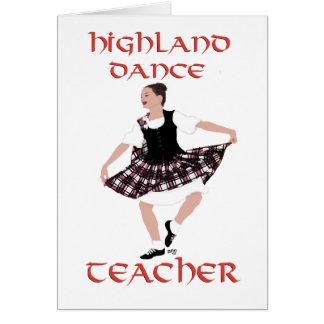 Highland Dance Teacher - Country Dances Card