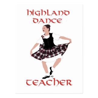 Highland Dance Teacher - Country Dances Postcard