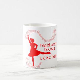 Highland Dance Teacher - Red Classic White Coffee Mug