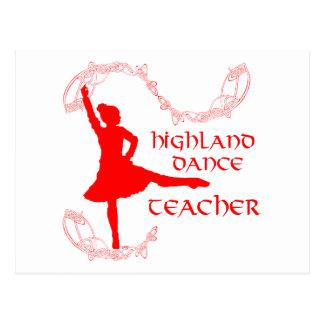 Highland Dance Teacher - Red Postcard