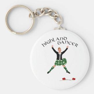 Highland Dancer Ghillie Callum Sword Dance Basic Round Button Keychain