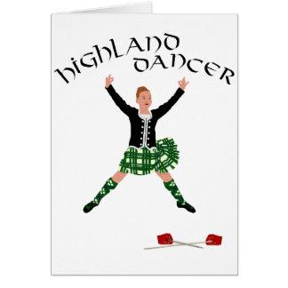 Highland Dancer Ghillie Callum Sword Dance Card