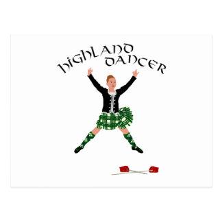 Highland Dancer Ghillie Callum Sword Dance Postcard