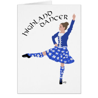 Highland Dancer in Blue Card